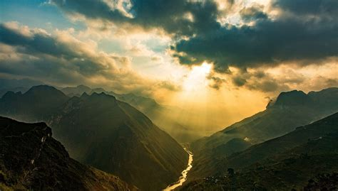 photography landscape nature sun rays mountains