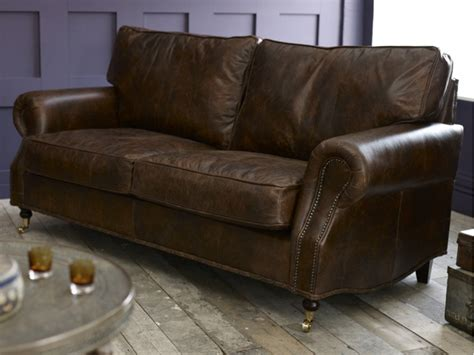 retro leather sofa berkeley vintage leather sofa