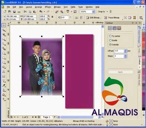 cara membuat background x banner membuat x banner pernikahan di corel