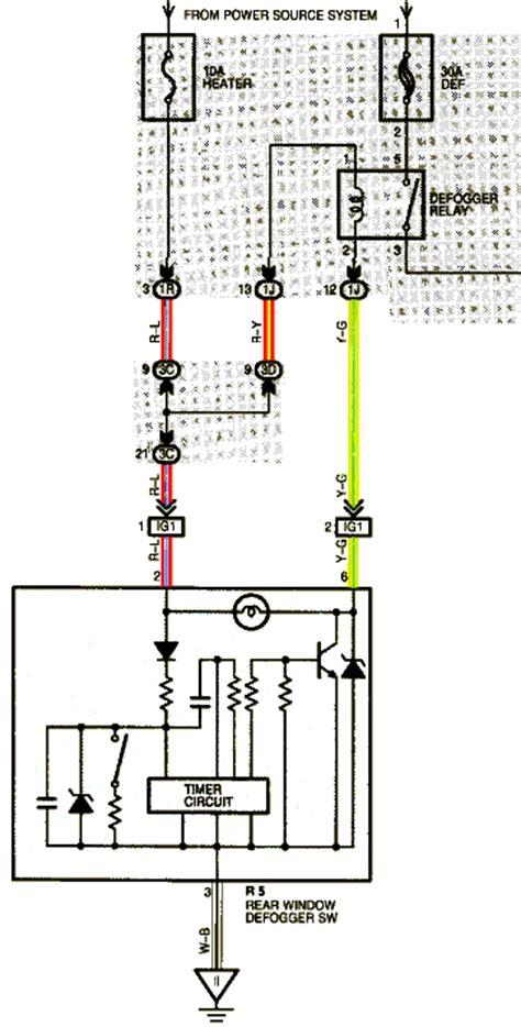 free auto wiring diagram 1998 toyota rear window
