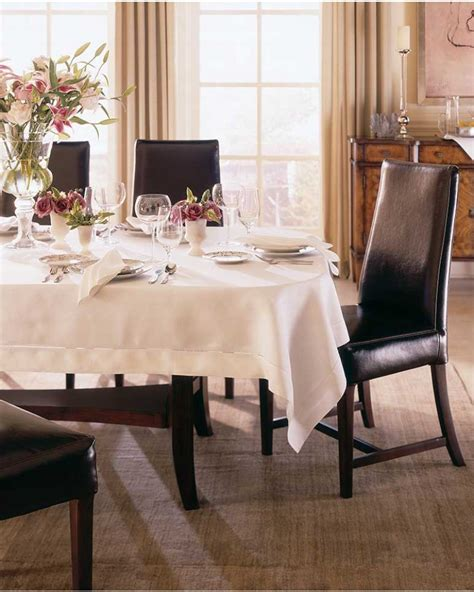 Tablecloth For Oval Dining Table Tablecloths Linen And Cloth Sferra Linens