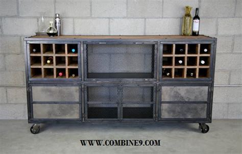 Industrial Style Bar Cabinet Liquor Cabinet Bar Modern Industrial Reclaimed Wood Custom