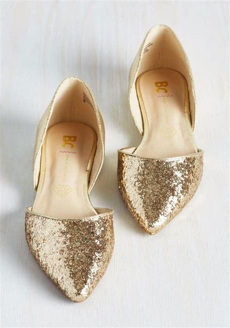 Gold Bridal Flats by Zapatos C 243 Modos Que Perfectos Con Cualquier Vestido De