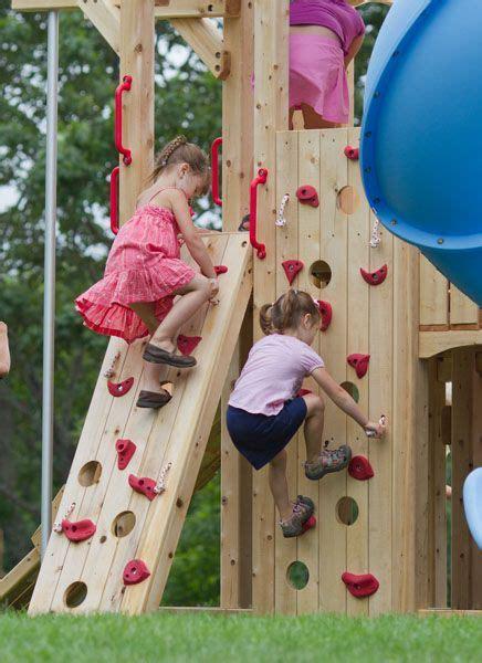 swing set rock climbing wall climbing wall swing sets and rock wall on pinterest