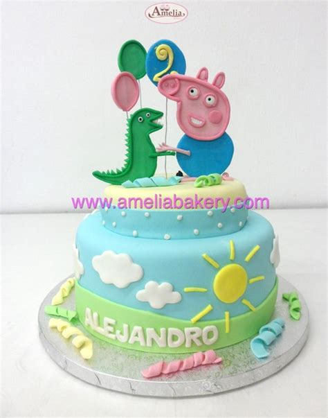 imagenes vulgares de la pepa tarta peppa pig george fondant 2 pisos infantil pastel