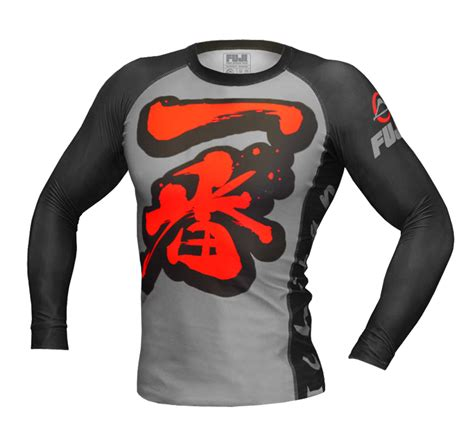 Rashguard Baselayer Compression Spat Manset Bjj No Gi Fitness Run fuji ichiban grappling rashguard jiujitsu
