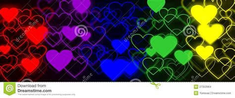 rainbow hearts web background stock illustration image