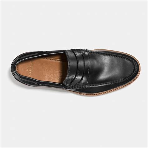 mens coach loafers coach houston loafer in black for lyst
