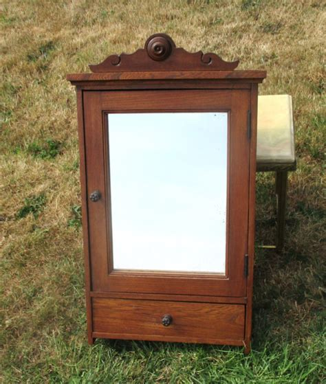 Bathroom Antique Wood Medicine Cabinet With Mirror Door Wood Bathroom Medicine Cabinets With Mirrors
