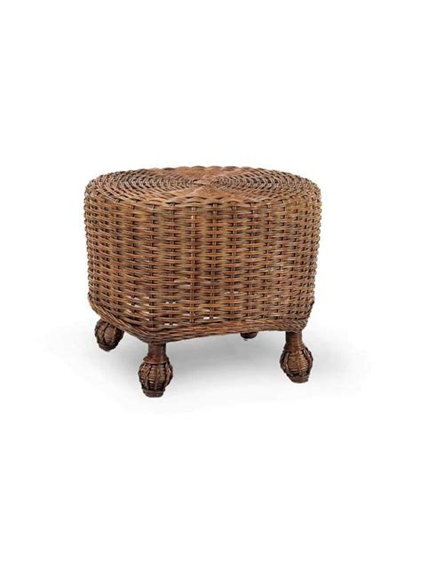 rattan ottoman round cottage wicker round ottoman cottage home 174