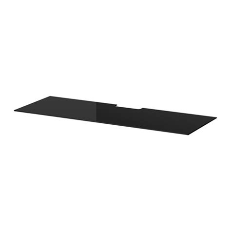 besta glass top best 197 top panel for tv glass black ikea