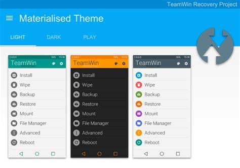 team win recovery project apk convierte el recovery twrp al estilo material design