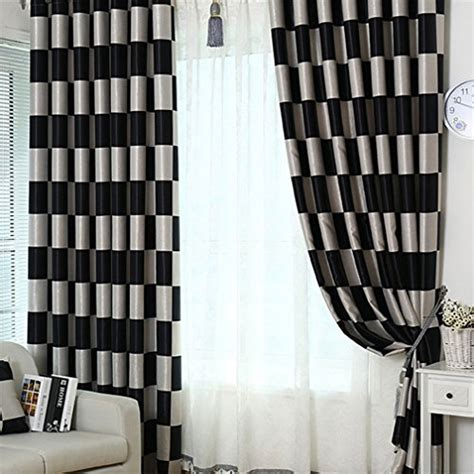 72 inch blackout curtains ferand grid thermal semi blackout curtain drapes black