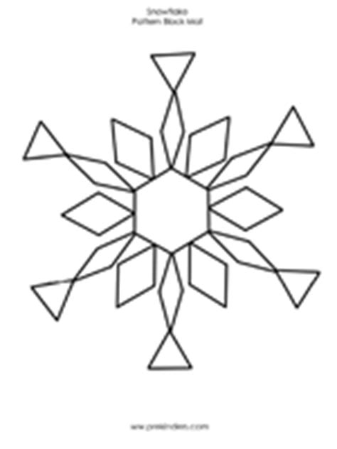 snowflake pattern block templates snowflake pattern block mats prekinders