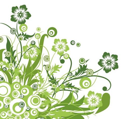 Designer Flowers by Flower Designs Name Green Floral Design Vector Graphic