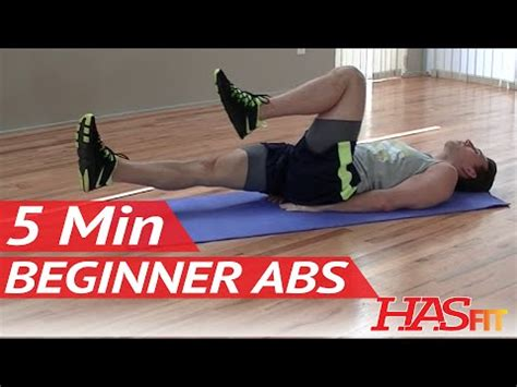 min beginner ab workout hasfit easy core exercises
