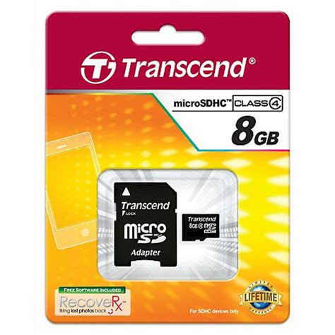 Micro Sd Transcend 8gb by Transcend Micro Sd Memory Card 8gb Office Warehouse Inc