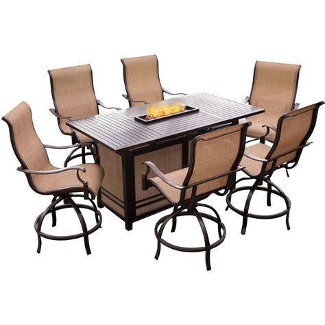 patio furniture aluminum somerset 7pc dining set hton bay oak cliff 7 piece metal outdoor dining set