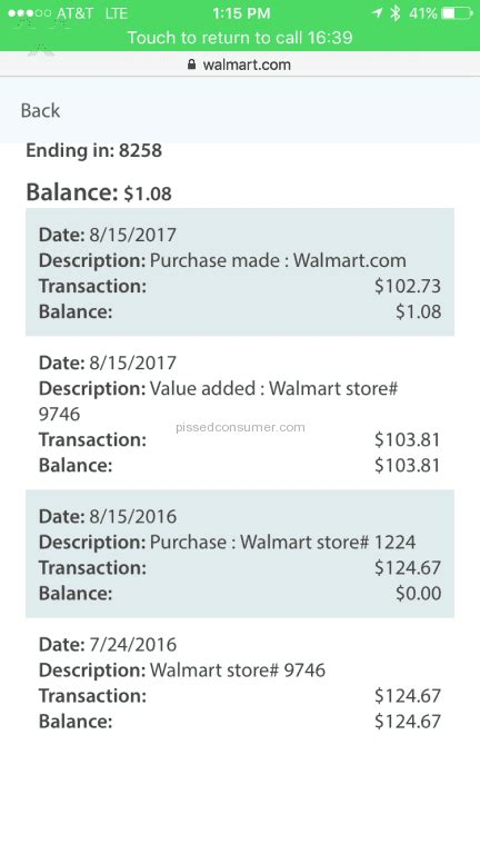 Walmart Savings Catcher Gift Card Balance - 11 walmart rewards programs reviews and complaints pissed consumer