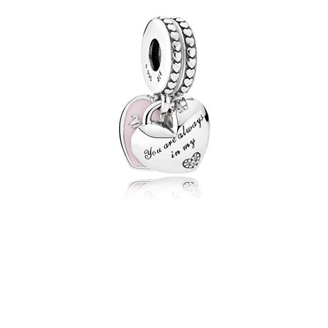 Pandora Robin With And Clear Cz Charm P 766 hearts dangle charm soft pink enamel cl