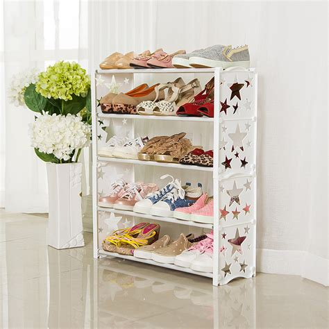 Modern Shoe Shelf by Simple Multi Layers Combination Shoes Shelf Brief