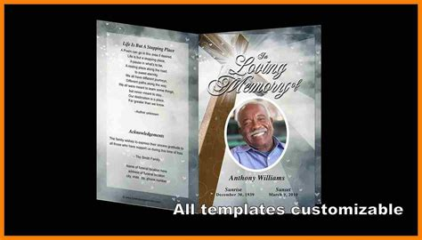 9 free funeral program templates microsoft word hostess