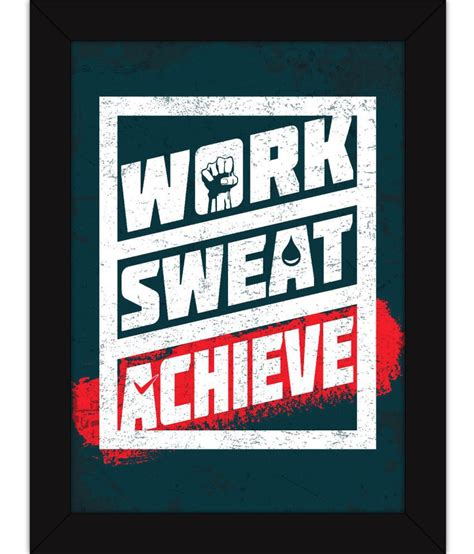 room posters fatmug framed posters for room work sweat achieve acrylic wall poster with frame buy