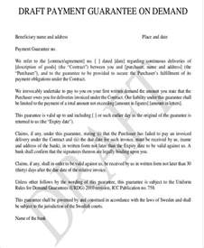 Letter Of Guarantee Template by 9 Guarantee Letter Templates Free Word Pdf Format