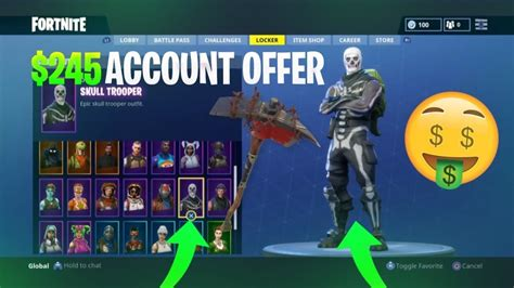 fortnite accounts for sale new fortnite account for sale skull trooper