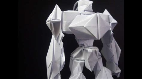 membuat origami robot transformer origami robot 5 youtube