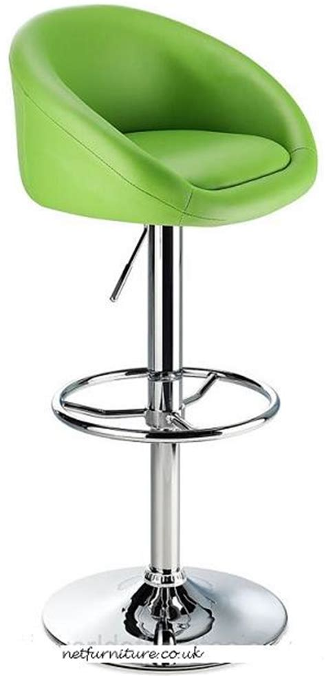 Green Stool And Gas by Funky Bar Stools Colours Grey Green Orange Purple