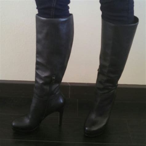 reba boots reba black leather knee high boots from ilka s closet on