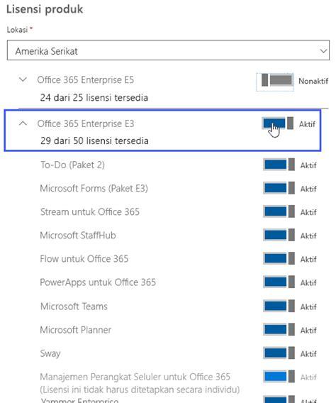 Lisensi Microsoft Visio menghapus lisensi dari pengguna di office 365 untuk bisnis office 365