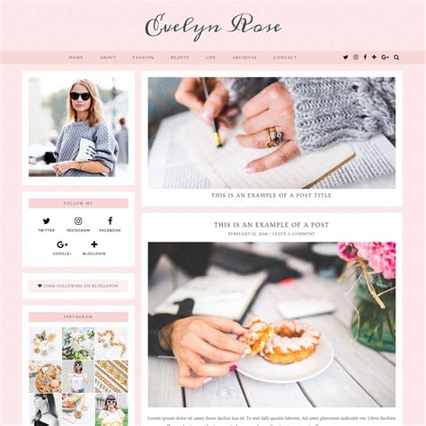 Theme Rose Wordpress | evelyn rose the most beautifully crafted wordpress theme