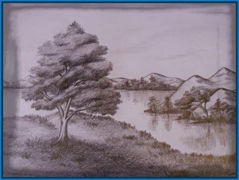 imagenes de paisajes en dibujo paisajes echos a lapiz dibujos de amor a lapiz