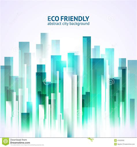 urban blueprint vector architectural background stock eco friendly abstract city background stock vector image