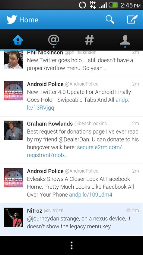 new twitter layout android twitter for android updated with modern design ios