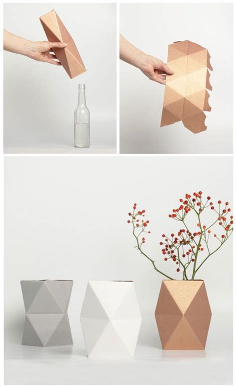 How To Make A Paper Vase by 25 Best Ideas About Bottle Vase On Diy Bottle