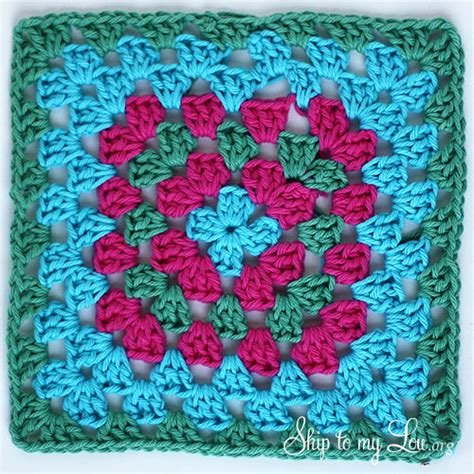 how to crochet a granny square dishcloth skip to my lou