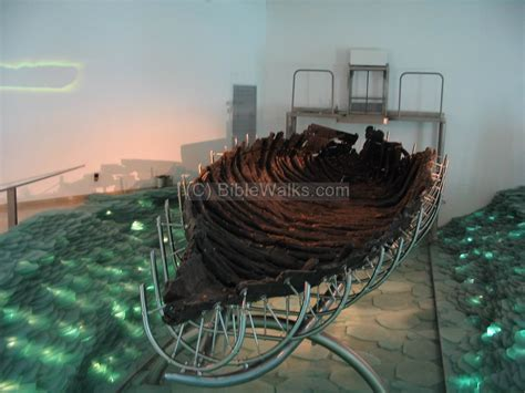 fishing boat in jesus time sea of galilee sites gallery