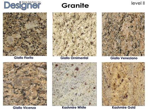 Types Of Granite Countertops 1000 Images About Counter Tops On Giallo