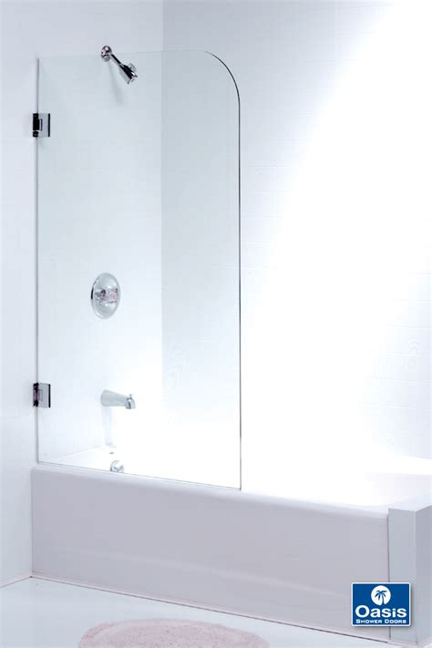 bathtub glass panels frameless shower enclosers oasis specialty glass