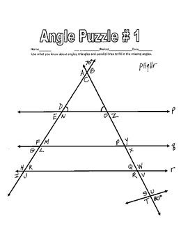 Worksheet 3 Parallel Lines Cut By A Transversal Answers by Parallel Lines Cut By A Transversal Printable Missing