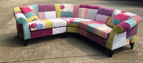 Patchwork Couches - the dibley corner sofa patchwork