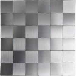 self adhesive metal tiles 10 pcs stainless peel n stick backsplashes
