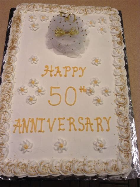 50th wedding anniversary cake full sheet cake. Half white