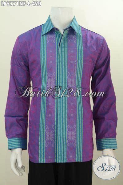 Dress Batik Tenun Ungu by Baju Tenun Ungu Dengan Kombinasi Garis Garis Menambah