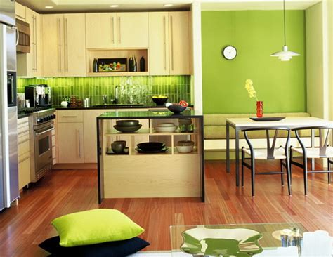 kitchen wallpaper green the design soft green color in the interior home
