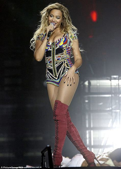 lady rose boat tours beyonce sizzles in beaded leotard and thigh high stiletto