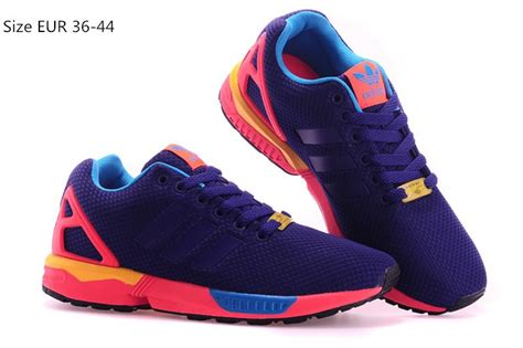 discount price adidas originals zx flux mens athletic shoes purple pink blue yellow factory outlet